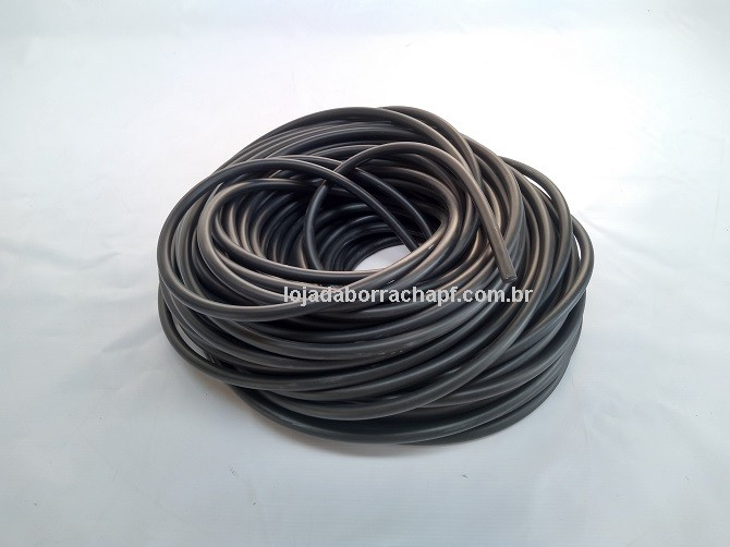N192 Cordão de borracha maciça 10mm (preto)