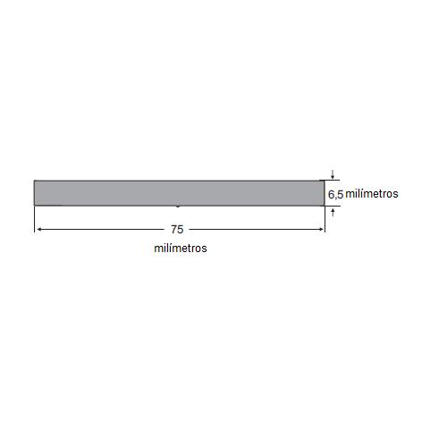 N72 Borracha esponjosa 75x6,5mm