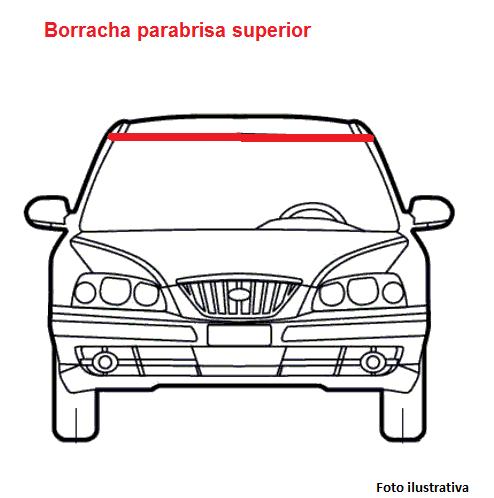 Borr. parabrisa superior interna 3 peças Honda Civic 07/11