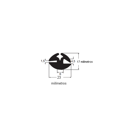 N133 Borracha parabrisa universal Usa macarrão N166