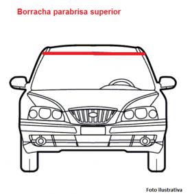 "Borr. perfil parabrisa superior  ""H"" c/alma Gol Parati Saveiro 96/99"