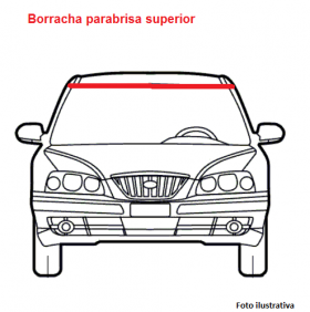 Borracha parabrisa superior Peugeot 206 99/11
