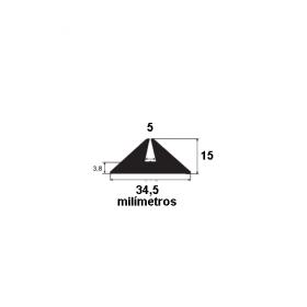 N19 Borracha para forma de concreto 34,5x15x5mm (25 metros)