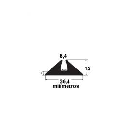 N144 Borracha para forma de concreto 36,4x15x6,4mm (25 metros)