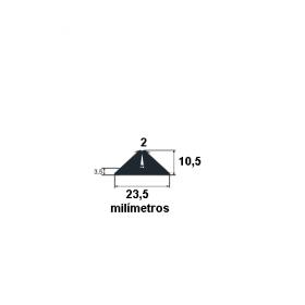 N55 Borracha para forma de concreto 23,5x10,5mm (50 metros)