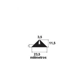 N223 Borracha formas pré moldados 23,5x11,5x3,5mm (50 metros)