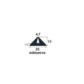 N228 Borracha formas pré moldados 25x13x4,7mm (50 metros)