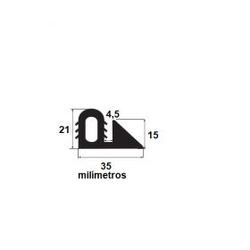 N164 Borracha formas pré moldados  35x21mm (25 metros)
