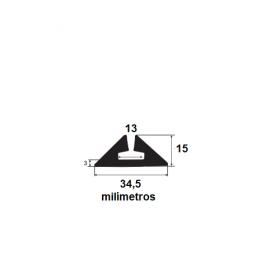 Borracha para forma de concreto 34,5x15mm (25 metros)
