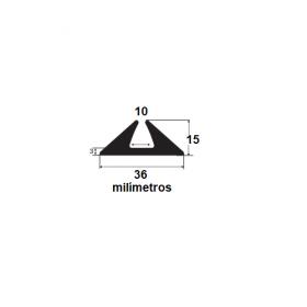 Borracha para forma de concreto 36x15x10mm (25 metros)