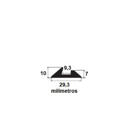 Borracha para forma de concreto 29,3x7x9,3x10mm (50 metros)