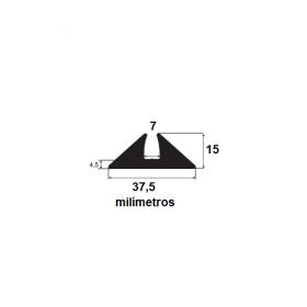 Borracha para forma de concreto 37,5x15x7mm (25 metros)