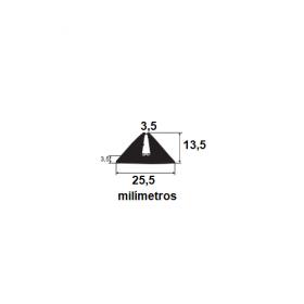 N14 Borracha para forma de concreto 25,5x13,5x3,5mm (3,5mm) (50 metros)