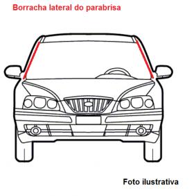 Borr. parabrisa (lateral) Gol G3 G4 99/14