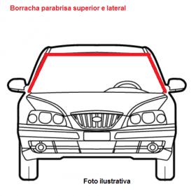 Borr. perfil parabrisa superior/lateral interna H 3 pçs Gol Parati Saveiro 96/99