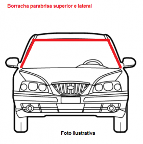 Borr. parabrisa superior e lateral Fit 11/17