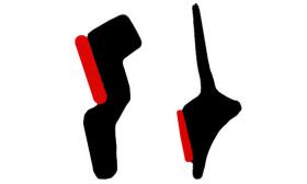 Borr. vigia Honda Fit (2 peças)