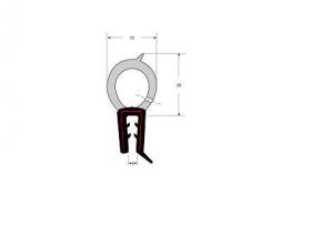 Borr. capo dianteiro Gol Monza Escort (1,45m)