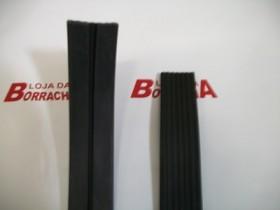 Borr. parachoque Chevette 83/87 (castelinho) c/ grampo