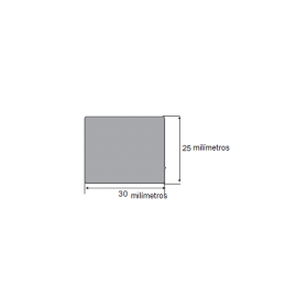 N224 Borracha esponjosa 30x25mm