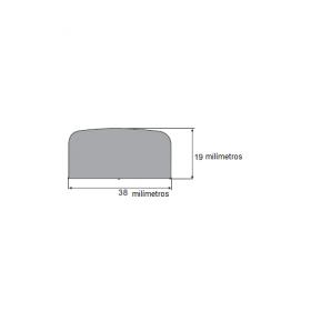 N71 Borracha esponjosa 38x19mm