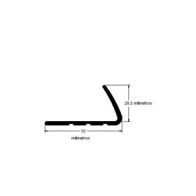 N99 Cantoneira de borracha para escada 52x28,5 bege ral
