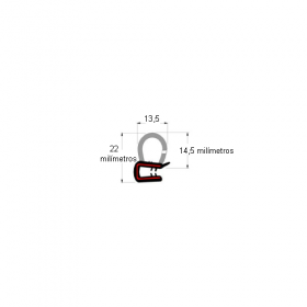 N167 Borracha de porta bulbo baixo s/aba (metro)
