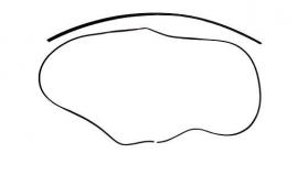 Borr. perfil parabrisa superior/lateral jogo 2 pçs Golf Importado 92/98