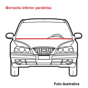 Borr. parabrisa inferior churrasqueira Gol G5 08/12