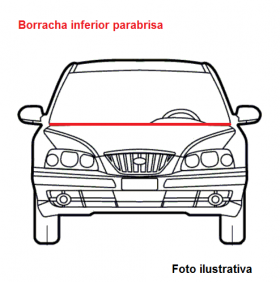 Borr. parabrisa (perfil inferior c/alma aço/dupla face) Gol G5 08/12