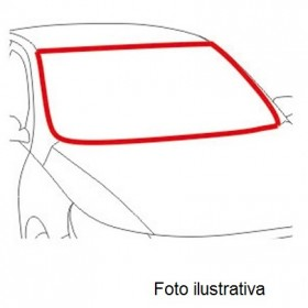 Borr. parabrisa (friso alumínio) Belina Il 77/86 Corcel Il 77/86 Del Rey 80/91 Pampa 82/97 LX