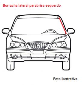 Borr. parabrisa (acabamento lateral) Gol Parati 95/99 Bola G2