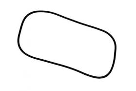 Borr. parabrisa (s/friso cabine baixa) Mercedes 1111 1113 65/90 STD