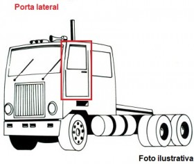 Borr. porta Scania LK111 LK140 LK141 76/81 (fixa na porta)