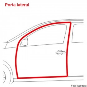 Borr. Porta (c/aba acabamento) Blazer S10 01/11 ; Ranger Explorer Hilux SW4 95/03 (c/aba)
