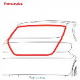 Borr. porta malas Peugeot 206 207 208 99/11