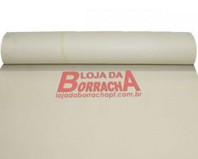 R67 Lençol de borracha industrial (atoxico) 1,6mm x 1,00 metro (sem lona) (branco)