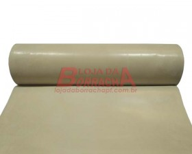 R21 Lençol de borracha (Pulsometro) 2,0mm x 1,00 metro (com 1 lona) (bege claro)