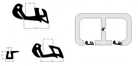 Borr. vidro lateral corrediço dir Mercedes 608D 72/89