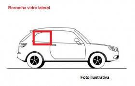 Borr. vidro lateral (dir fixo s/friso) Passat 73/83 STD