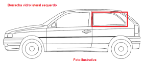 Borr. vidro lateral (móvel) Fiat 147 Spazio Europa 76/86 Panorama 80/86 Oggi 83/85