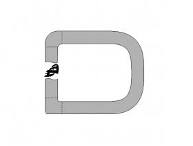 Borr. vidro lateral (esq fixo) Palio 96/14