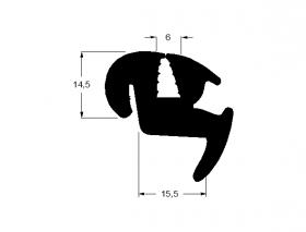 Borr. vidro lateral (canto menor) Scania L110 L111 67/81