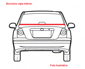 Borr. vigia (inferior pvc) Corsa 4 portas Hatch 94/03