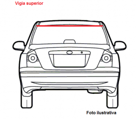 Borr. vigia (superior borracha) Corsa 4 portas Hatch 94/03