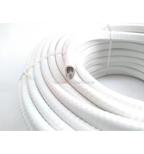 """N165 Perfil de PVC em """"U"""" 14,0x9,0x3,5mm Branco (casca de cobra)"""