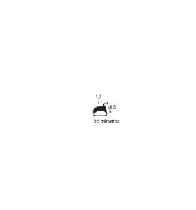 N64 Borracha maciça esquadrias 8,5x6,5mm