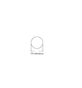 N198 Cordão de borracha maciça 19mm (branco)