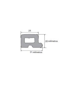 N110 Borr. esponjosa porta bau 31x20mm