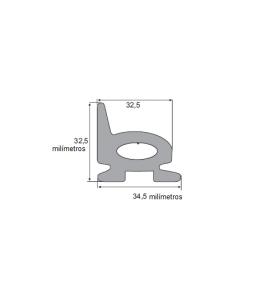 N113 Borr. esponjosa porta bau 34,5x32,5mm c/aba